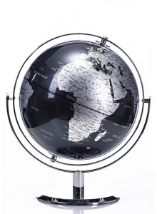 The Grange Collection Black/Silver Silk Globe 22.8cm