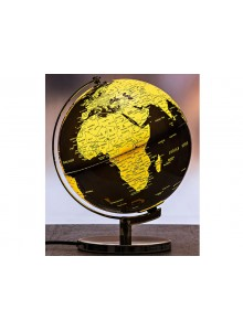 The Grange Collection Black & Gold Globe Lamp 24x23x30cm