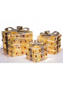 The Grange Christmas Set of 3 Boxes, 15cm, 20cm, 25cm