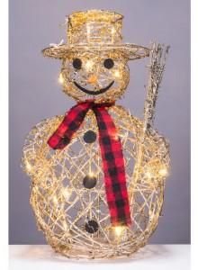 The Grange Christmas Snowman, 40cm, with Lights