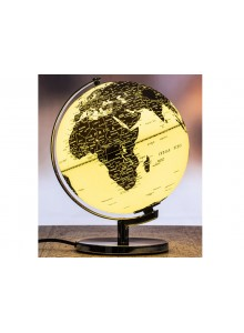 The Grange Collection Black & White Globe Lamp 24x23x30cm