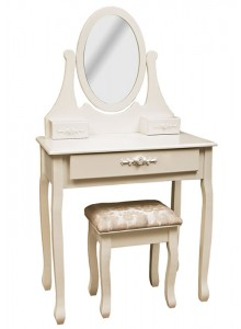 The Grange Collection Dressing Table with Stool