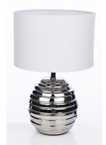 The Grange Collection Ceramic Table Lamp - Silver