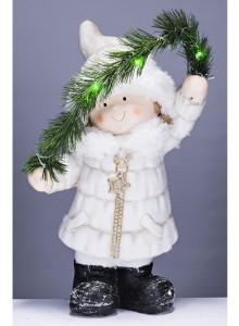 The Grange Christmas Girl LED Lights, 46cm
