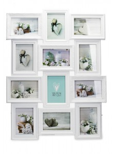 The Grange Collection White 12-Photo Gallery Frame