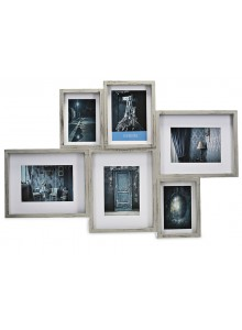 The Grange Collection Brushed Grey 6-Photo Gallery Frame