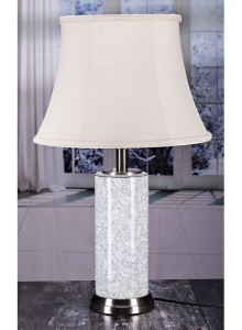 The Grange Collection Grey & White Table Lamp - 27x34x26cm