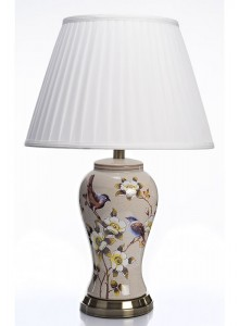The Grange Collection Ceramic Bird with Flower Lamp