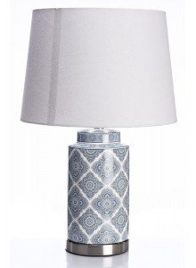 The Grange Collection Ceramic Blue and White Table Lamp