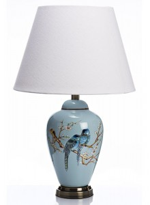 The Grange Collection Ceramic Blue Bird Lamp
