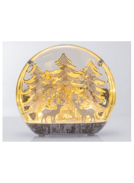 The Grange Collection Reindeer Globe with Lights