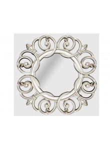 The Grange Collection Champagne Floral Mirror