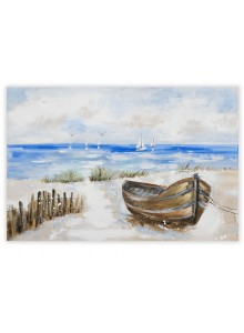 The Grange Collection Boat Painting - 80cm x 120cm