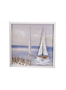 The Grange Collection Sailboat Painting - 60cm x 60cm