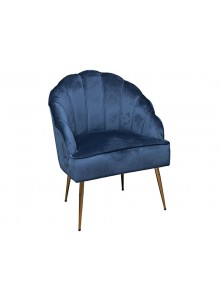 The Grange Collection Shell Arm Chair (blue with gold legs)