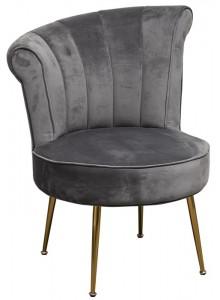 The Grange Interiors Grey Velvet Chair