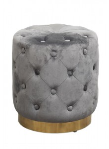 The Grange Interiors Grey Stool with Buttons