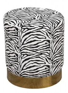 The Grange Interiors Zebra Print Stool
