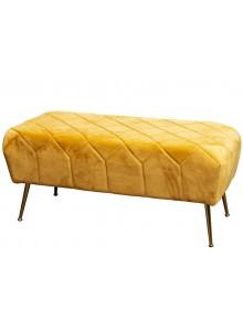 The Grange Interiors Mustard Velvet Bench