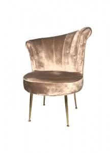 The Grange Interiors Taupe Velvet Chair