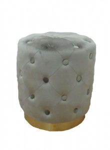 The Grange Interiors Taupe Stool with Buttons